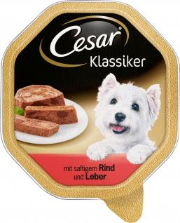 Cesar Nassfutter Klassiker Selektion mit Rind und Leber 150g
