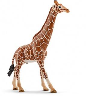 Schleich 14749 Wild Life Spielzeugfigur Giraffenbulle handbemalt