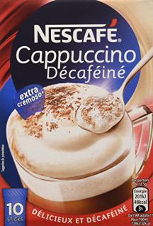 Nescafé Typ Cappuccino, Entkoffeiniert, Löslicher Kaffee, Instantkaffee, 10 Portionen zu je 12.5 g