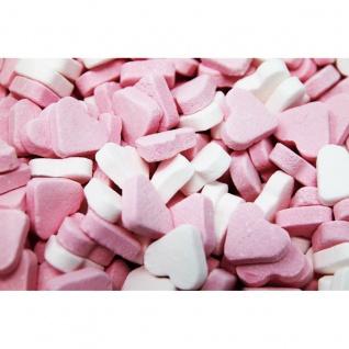 Rosa Weisse Herzen fruchtig süsse Herzen mit Fruchtgeschmack 1000g
