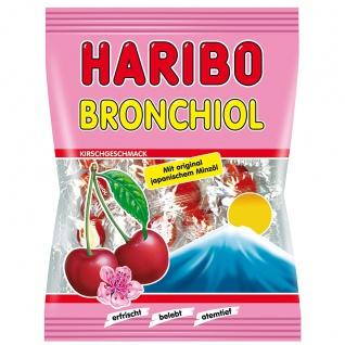 Haribo Bronchiol Kirsche Bonbons mit Kirsch und Minzgeschmack 100g