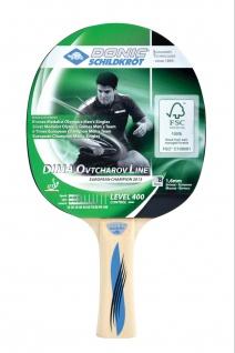 Tischtennisschläger Ovtcharov Line Level 400 FSC konkaver Griff