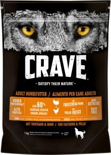 Crave Trockenfutter für Hunde Adult mit Truthahn und Huhn 1000g