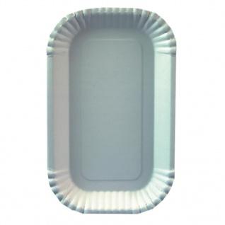 Papstar Einweg Schalen Pappe weiß eckig Serie PURE 15 cm 100 Stück