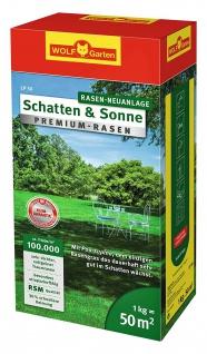 Wolf LP 50 Schatten und Sonnen Rasensamen Premium sattgrüner Rasen