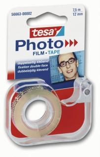 Tesa Foto Film im Abroller permanent Verkleben von Fotos 12mm x 7.5m