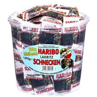 Haribo Lakritz Schnecken 100 Minibeutel