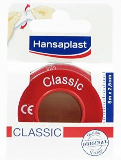 Hansaplast Classic Fixierpflaster starke Klebekraft 5mx2, 5cm 3er Pack