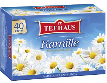 Teehaus Kamille Teegetränk Milder Kamillen Kräutertee 3er Pack
