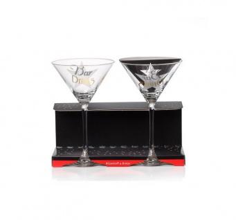 Ritzenhoff und Breker 2er Set Cheers Martiniglas 210 ml mit Aufdruck