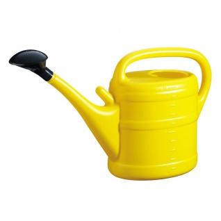 Gießkanne 10 l gelb Aufsteckbrausekopf hochwertiger Kunststoff