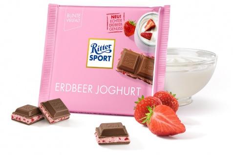 Ritter Sport Erdbeer Joghurt Echter leckerer Erdbeer Genuss 100g
