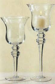 Windlicht Teelichthalter Kerzenhalter aus Glas mit Stiel 29cm