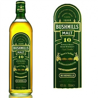 Bushmills Single Malt Irish Whiskey Triple Distilled 10 Jahre 700 ml