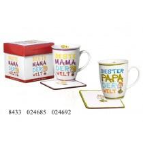 Ritzenhoff und Breker Kaffeebecher mit Geschenkebox Bester Papa