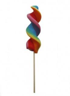 Rainbow Turn Lolly gedrehter Regenbogen Lutscher einzeln 75g - Vorschau