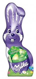 Milka Schmunzelhase Nuss Alpenmilch Schokolade mit Haselnüssen 45g