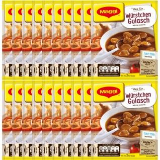 Maggi Fix für Würstchen Gulasch mit würziger Paprikanote 30g 20er Pack