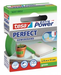 Tesa extra Power Gewebeband strapazierfähig einfach beschriftbar grün