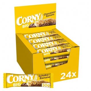 Corny Big Schoko Banane Milchschokolade und Bananenstückchen 24er Pack