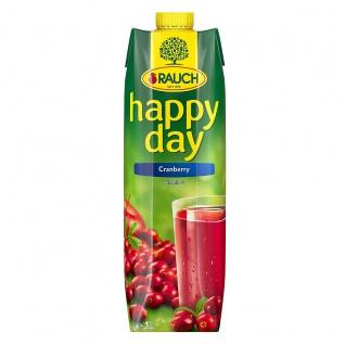Rauch Happy Day Cranberry Fruchtsaft mit wertvollem Vitamin C 1000ml