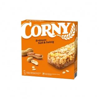 Corny Süss und Salzig Erdnuss Müsliriegel mit knackigen Nüssen 150g