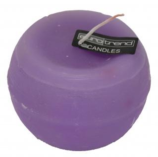 Rundkerze Rusti lila Euro Trend Candles im Durchmesser 10 cm