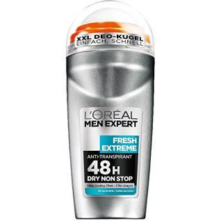 L'Oréal Men Expert Deodorant Fresh Extreme - Deo Roll-On Männer für 48h Deo-Schutz, 6er Pack (6 x 50 ml) - Vorschau