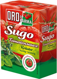 Oro di Parma Sugo typisch italienische Tomatensauce Kräuter 400g 8er Pack