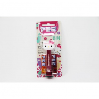 PEZ Hello Kitty Spender dunkelrot mit 2 Päckchen süßen Bonbons 17g