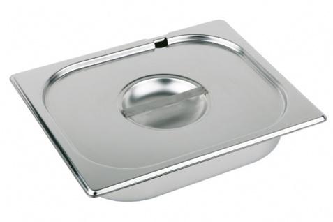 Assheuer und Pott Gastronomie Behälter Deckel aus Edelstahl 325x176 mm