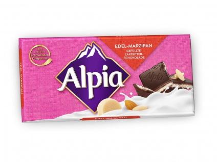 Alpia Edel Marzipan Zartbitterschokolade Füllung aus Marzipan 100g
