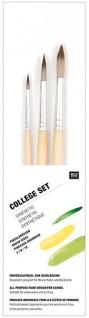 Pinsel College Syn. Set beige 3-tlg. größe 3 6 und 10