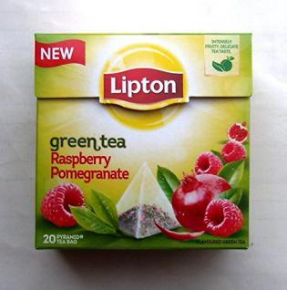 LIPTON Green Tea Raspberry Pomegranate Pyramidbeutel