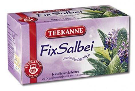 Teekanne Salbei natürlicher Salbeitee 20 Doppelkammerbeutel 3er Pack