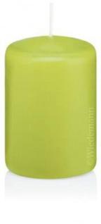 Stumpenkerzen in Cellophan 80 x 50 mm 24 Stück - RAL Gütezeichen - Apfelgrün