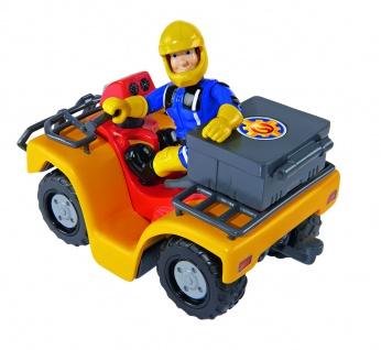 Simba 109257657 - Feuerwehrmann Sam Mercury-Quad mit Figur
