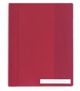 DURABLE Angebotshefter Überbreite Hartfolie rot mit Fenster DIN A4