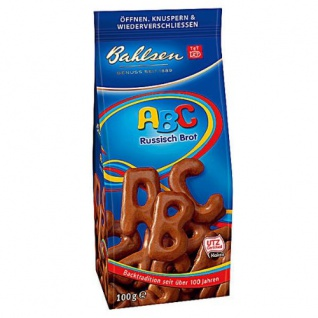 Bahlsen ABC Russisch Brot Knusprige Buchstaben Plätzchen 120gramm