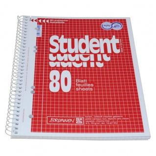 Collegeblock im DIN A5 Format mit karrierten Blättern 80 Blatt