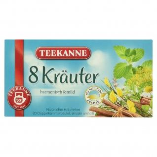 Teekanne 8 Kräuter Kräutergartenmischung Teegetränk 20 Beutel