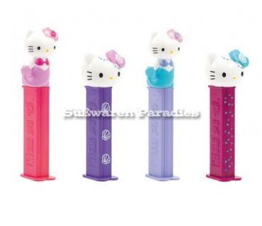 Pez Hello Kitty Mermaid Spender mit 2 Päckchen Bonbons 12 im Display