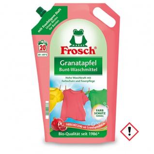 Frosch Bunt Waschmittel Granatapfel hohe Waschkraft 1800ml 2er Pack