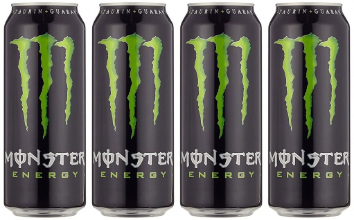 Monster Energy Drink Erfrischungsgetränk mit Koffein 500ml 4er Pack
