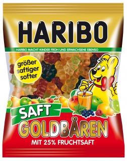 Haribo Saft Goldbären, größer, saftiger, softer, 25% Fruchtsaft 175g