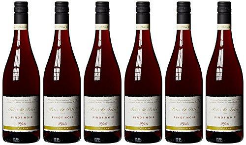Peter & Peter Pinot Noir Trocken Rotwein aus der Südpfalz 6er Pack 750ml