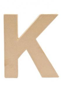 """Pappmache Buchstabe """" K"""" stehend zum basteln kreativ Rico Design Idee"""