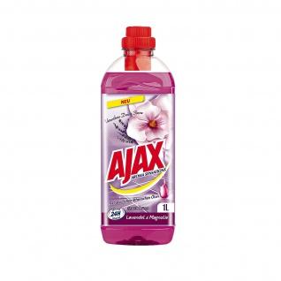 Ajax Allzweckreiniger Lavendel und Magnolie mit natürlichen Ölen 1000ml 6er Pack