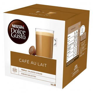 Nescafe Dolce Gusto Cafe Au Lait 16 Pods für vollen Kaffeegenuss 160g