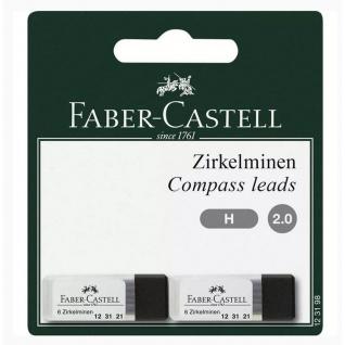 Faber Castell Compass leads Minen Zirkelminen 2mm 2 mal 6 Minen